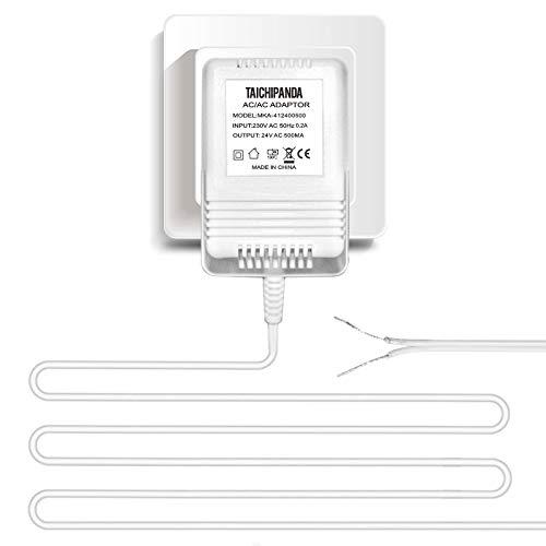 Trafo, 24 V, 500 MA, AC Netzteil, kompatibel mit allen Versionen von Ring-Türklingel und Nest Lern-Thermostat, Ecobee, Honeywell, C-Drahtadapter mit 8 m langem Kabel