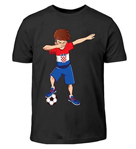 Dabbing Kroatischer Spieler Dab Kroatien Fan T-Shirt Croatia Hrvatska Fussballer Geschenk - Kinder T-Shirt