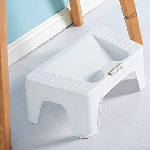 HEWEI Reposapiés Ligero Resistente y Duradero para soportar Adultos y niños lo Suficientemente Seguro Ideal para Cocina baño Dormitorio niños o Adultos Blanco
