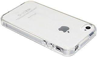 REY Funda Carcasa Gel Transparente para iPhone 4 4S Ultra Fina 0,33mm, Silicona TPU de Alta Resistencia y Flexibilidad