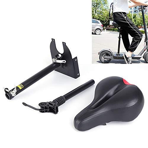 Juego de sillín, asiento para patinete eléctrico, asiento plegable amortiguador de golpes, altura ajustable, silla cómoda