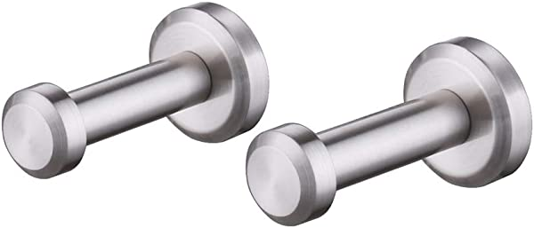 Kes Towel Hook Robe Hook 2 Pack All Brass Brushed Nickel Single Bath Hook Wall Mount A1066 2 P2