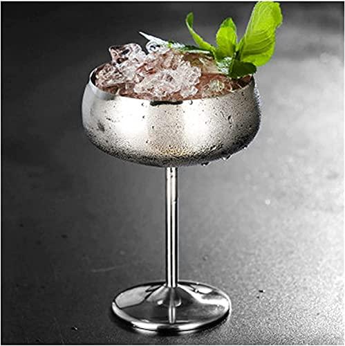 ZHZHUANG 1 Unids Lujo 304 Acero Inoxidable Coctel de Cóctel Cocktail Jugo Drink Champagne Goblet Fiesta de la Fiesta Herramientas,Ejercito Verde