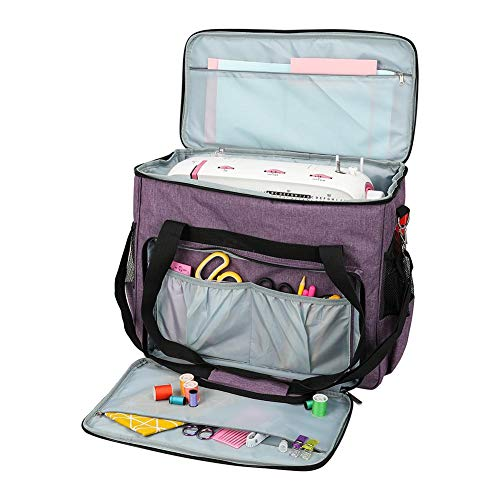 Terynbat Sewing machine suitcase, coaxial waterproof sewing machine bag storage bag, suitable for most standard sewing machines and accessories