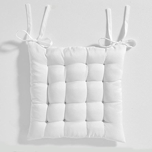 Today Assise Matelassee Chantilly Polyester Blanc 40 x 40 cm