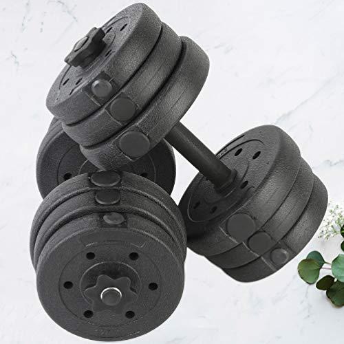 VOSAREA Manubri Bilanciere Set Pesi Staccabili Braccio Muscolare Bilanciere Mens Fitness Training Manubri Fissi per Uomo Donna Home Office Palestra Famiglia (20Kg)