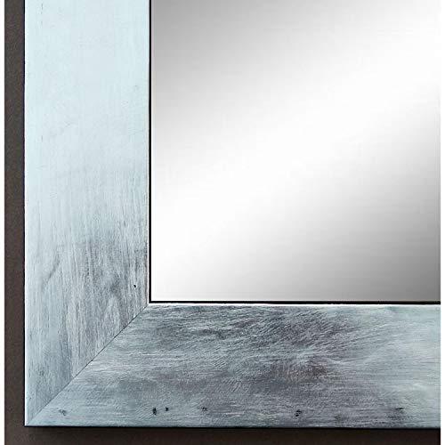Online Galerie Bingold Spiegel Wandspiegel Badspiegel - Lecce Silber 3,9 - handgefertigt - 200 Größen zur Auswahl - Modern, Vintage, Shabby - 60 x 70 cm AM