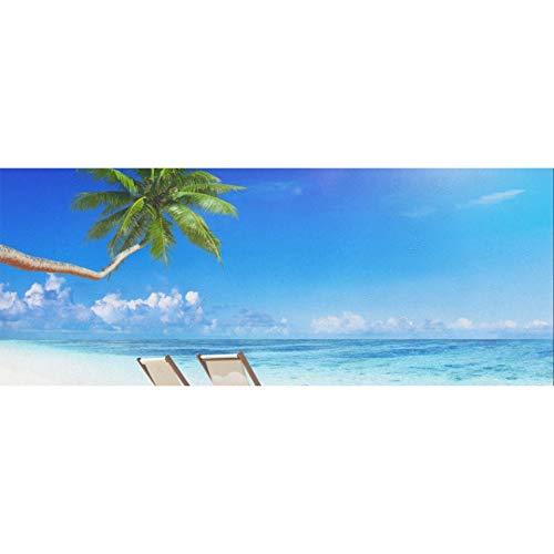 Silla de playa en la playa blanca Papel de regalo de Navidad 58 x 23 pulgadas 2 rollos de papel de regalo de cumpleaños para hombres Papel de regalo de cumpleaños para el día de la madr