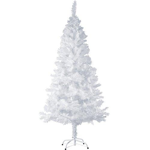TecTake Sapin de Noël Artificiel avec Socle en Métal | Arbre de Noel - Diverses Couleurs et Tailles au Choix - (180 cm | 533 Branches | Blanc | No. 402821)