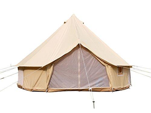 Safari Camping Outdoor Vier Saison Familie nurlaubsort Camping wasserdicht Luxus Bell Zelt oder Zelt zubehör (beige Baumwolle Leinwand Zelt, Diameter3m)