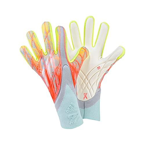Adidas Mens Goalkeeper Gloves (W/O Fingersave) X GL Pro, Clonix/Turbo/Syello/W, HA3573, 8- EU