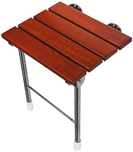 W-SHTAO L-WSWS - Silla de ducha plegable de madera maciza, silla de baño para ancianos, silla de pared de baño, capacidad de transporte de 250 kg
