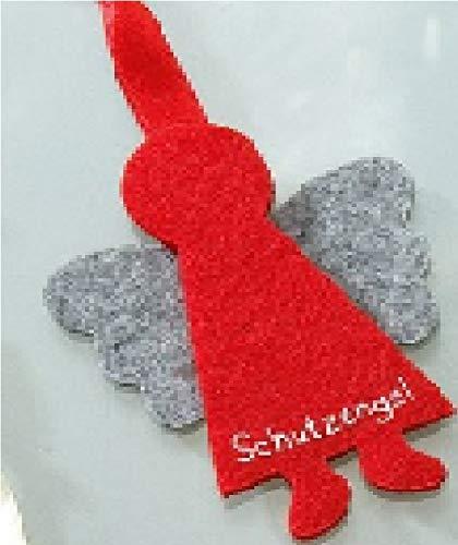 GILDE - 48638 - Schutzengel, Anhänger, Wichtel, Filz, 8cm, rot