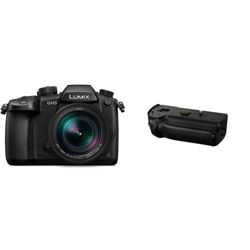 Cheap Panasonic LUMIX GH5 4K Mirrorless Camera with Lecia Vario-Elmarit +   GH5 Battery Grip