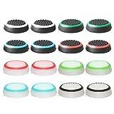 ABD Cubierta Protectora de Apretones de Pulgar de Silicona para PS5,PS4, Xbox 360, PS3 Controladores, 8 Pares, Colores Mezclados