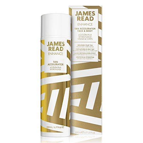 JAMES READ Acceleratore abbronzatura per viso e corpo 200ml Intensifica e prolunga l'abbronzatura naturale o l'autoabbronzatura, lozione leggera facil