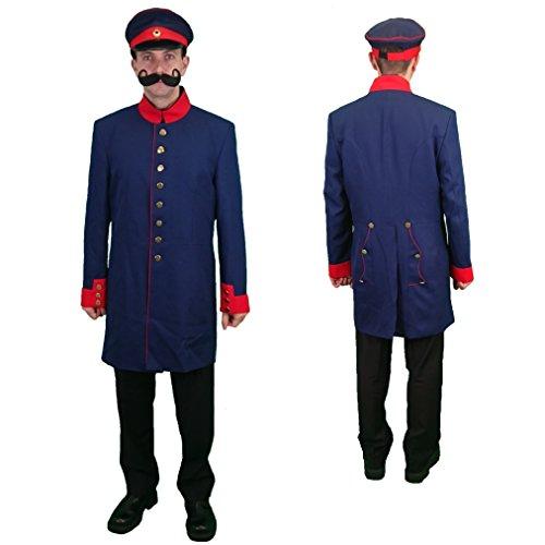 Krause & Sohn Uniformjacke Preußen dunkelblau Gr. 52 Kurzmantel Militär Historische Uniform (52)