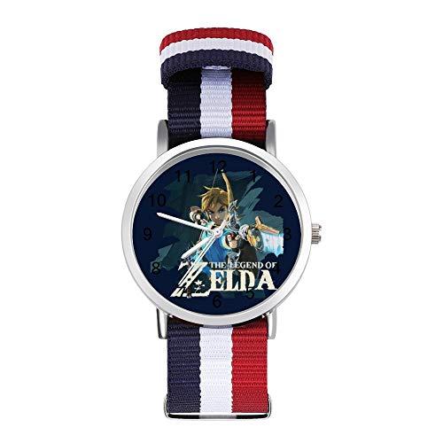 Zelda Breath of the Wild Link Bogen und Pfeil Freizeit Armband Uhren Geflochtene Uhr mit Skala