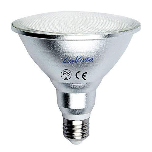 Luxvista 15W Par38 E27 Impermeable Foco Lámpara Bombilla Proyector LED Spot (Luz Cálida, 1200 Lúmenes, 120W Equivalente)