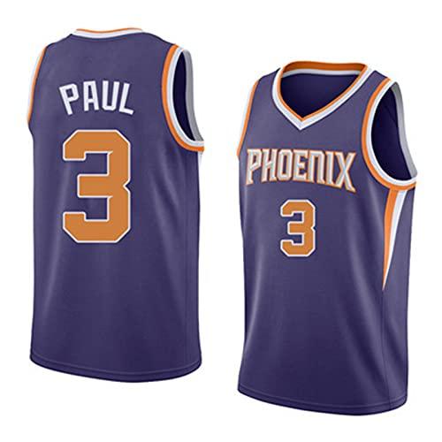 Maglietta da basket della NBA da uomo, traspirante, ad asciugatura rapida, con maniche traspiranti, unisex, viola, XL