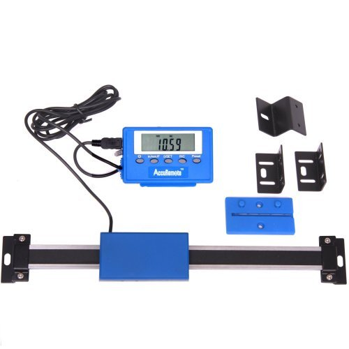 """AccuRemote 12"""" SUPER HIGH ACCURACY DIGITAL READOUT (DRO) WITH REMOTE READING Stainless Steel for Mill/Lathe"""