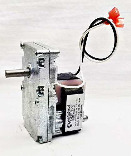 fireplace repl parts (New Part) Englander Pellet Stove Auger Feed Motor PU047040 - Ball Bearing - QUIETEST Made/firs for Many Models, Check in Description + (one Free Author's Book)