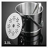 LANZHEN-RY Cubiteras para Hielo Bucket de Hielo de Acero Inoxidable 1.5L Champagne de Vino con Colcha Enfriador Cerveza (Color : 1.5L)