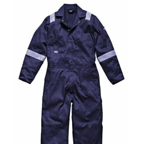 Dickies - Tuta Multi-Tasche Alta visibilità - Uomo (Confezione da 2) (XXL) (Blu Navy)