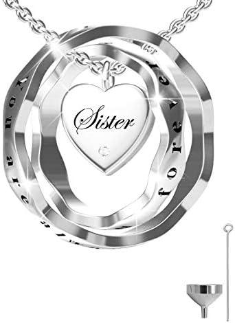 oGoodsunj S925 Sterling Silver Cremation Jewelry Urn Pendant Necklace Ashes Keepsake Necklaces product image
