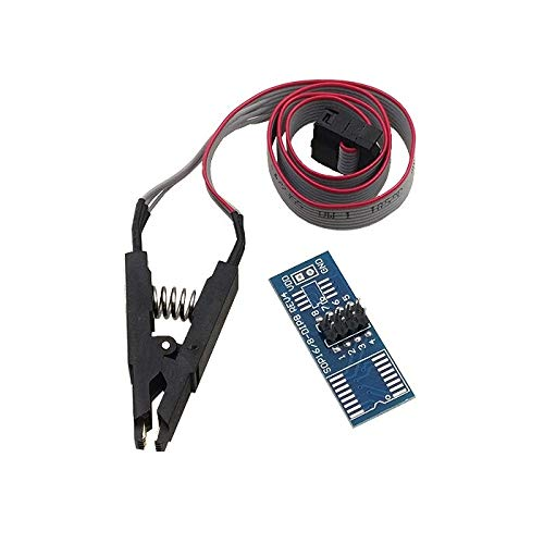 Price comparison product image MANMAN Test Clip SOIC8 SOP8 For EEPROM 93CXX / 25CXX / 24CXX in-circuit programming in USB Programmer TL866CS TL866A EZP2010