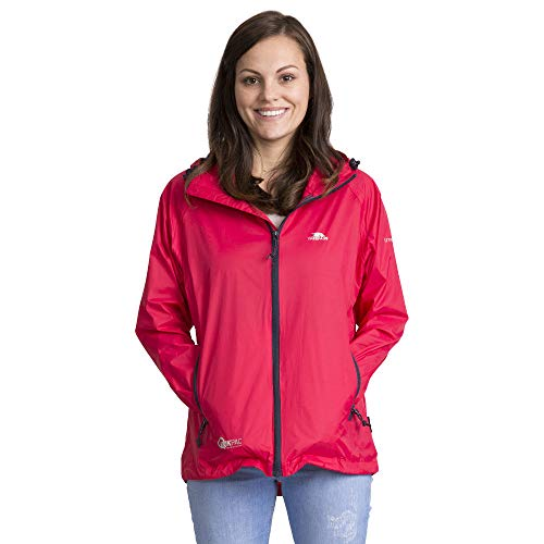 Trespass Qikpac Female Jacket, Raspberry, M, Kompakt Zusammenrollbare Wasserdichte Jacke für Damen, Medium, Rosa / Pink