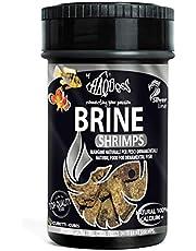 Haquoss Brine Gamba Alimento Natural liofilizzato de Artemia Salina para Peces Tropicales de Agua Dulce y Marina, 100ml/10gr