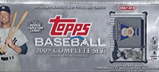 2009 Topps Baseball Factory Sealed Complete Set with Exclusive Mickey Mantle Patch Card
