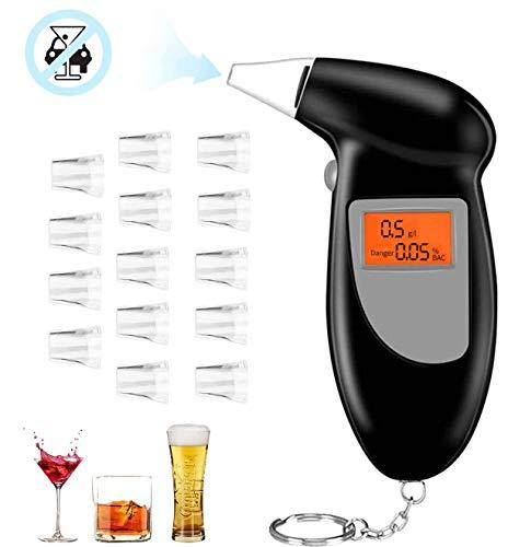 O-Kinee Alcootest Ethylotest Electronique, Alcootest Portable Ethylotest Construit avec écran LCD à Capteur Semi-conducteur, Professionnel Alcootest Homologué Livré avec 15 Embouchures (Orange)