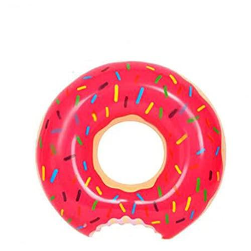 WEARRR Anillo de natación Inflable Donut Pool Float para niños Adultos PVC Colchón de natación Anillo de Goma Piscina Juguetes Asiento de Agua (Color : 75 110kg Adult)