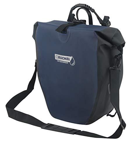 Büchel Unisex– Erwachsene Fahrradtasche für Gepäckträger, 100% wasserdicht,...