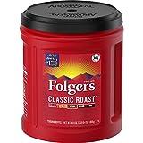 Folgers Classic Roast Medium Roast Ground Coffee, 38.4 Ounces (Pack of 6)
