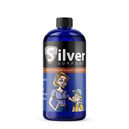 Nano Ionic Silver Technology Liquid Immune Booster for Kids, Pets & Adults Enhances Wellness - Next Generation Ionic Silver, 32oz