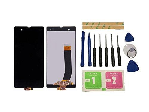 Flügel for Sony Xperia Z L36 L36i c6603 c6602 Display LCD Ersatzdisplay Schwarz Touchscreen Digitizer Bildschirm Glas Assembly (ohne Rahmen) Ersatzteile & Werkzeuge & Kleber