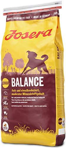 JOSERA Balance, fett- und eiweißreduziertes Hundefutter für Senioren, glutenfrei, Super Premium Trockenfutter für ältere Hunde, 1er Pack (1 x 15 kg)