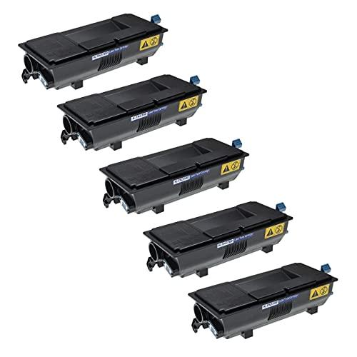vhbw 5X Tóner reemplaza Kyocera TK-3160 para Impresora - Cartuchos de tóner compatibles + Caja residuos de tóner, Negro