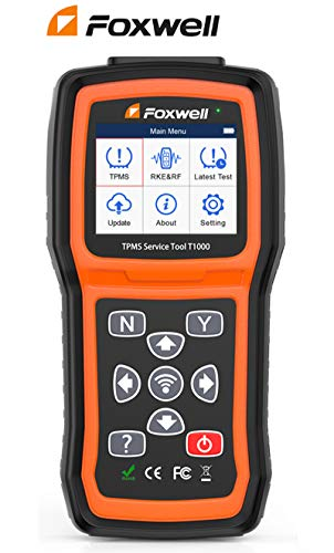 TPMS Sensor Relearn Tool , Sensor Activation&Program Automotive Tools, TPMS Tire Pressure Monitor System, Key Fob Test Sersors (315/433MHz), Lifetime Free Software Update - FOXWELL T1000