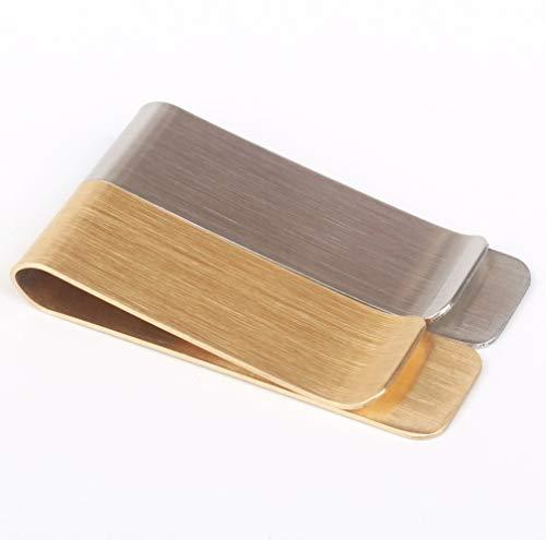 Metall Brieftasche Retro Messing Brieftasche Edelstahl Rechnung Clip Männer und Frauen Geldbörse Lesezeichen Clip 1St (Silver)
