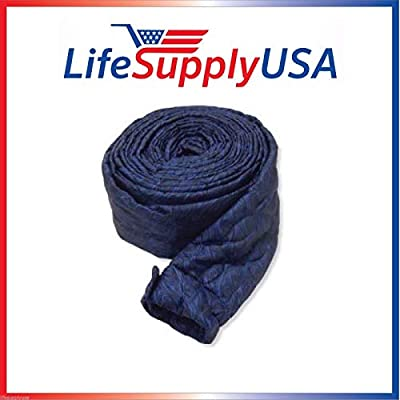 Pack of 2 Central Vacuum Padded Hose Covers with Zipper - 30 ft length, by LifeSupplyUSA