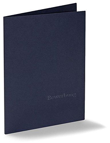 Acht 2-teilige Bewerbungsmappen Executive-Eco Plus - Marineblau - mit Prägung