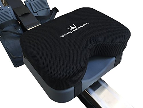 Rowing Machine Seat Pad for Concept2 Model D & E - Plus Other Rower Models (WaterRower, NordicTrack, Etc.) Seat Cushion Relieves Sore Butt Pain. Memory Foam Material (no gel) Good for Sculling & Boats from Rowing Machine King