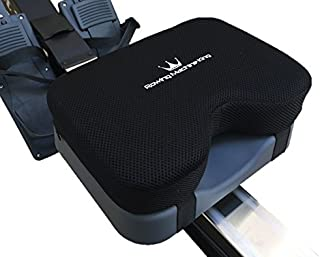 Rowing Machine Seat Pad for Concept2 Model D & E - Plus Other Rower Models (WaterRower, NordicTrack, Etc.) Seat Cushion Relieves Sore Butt Pain. Memory Foam Material (no gel) Good for Sculling & Boats