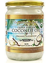 Organic Coconut Oil 16.91 oz Extra Virgin Unrefined Cold Pressed for Cooking, Hair and Skin Lotion