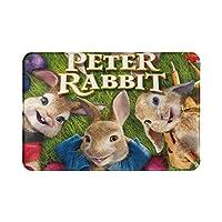 ピーターラビット peter rabbit カーペット エントランス マット 多機能 滑り止め付 速乾 屋内屋外ドアマット 供の寝室の家の装飾屋 モダン リビングルーム キッチン寝室 バスルームフットマット