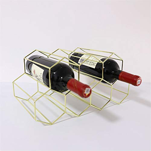 Double-Layer 7-Hole Wijnrek Iron Gold Simple Modern High-End Bar Creative wijnrek Cabinet Decoration Multi-Tier Wine Organizer Multifunctionele Kop van de Wijn Racks
